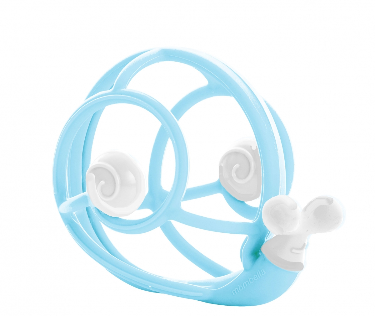Babytolove Bright Starts Start Your Senses Take And Teethe Yellow Snail 3d Teether Rattle Blue